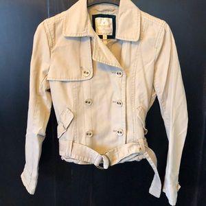 American Eagle tan cropped jacket Size Large
